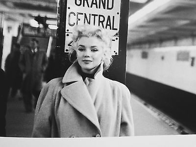 """'Marilyn In Grand Central'1955 NYC Original 12x16"""" Silver Gelatin photograph"""