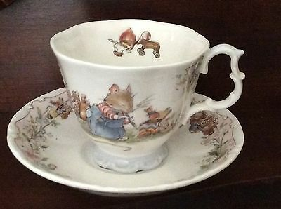 """Brambly Hedge """"The Birthday"""" Tea Cup And Saucer -Pristine and Full Size"""