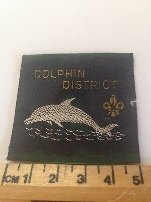 Vintage Dolphin District Scout Badge