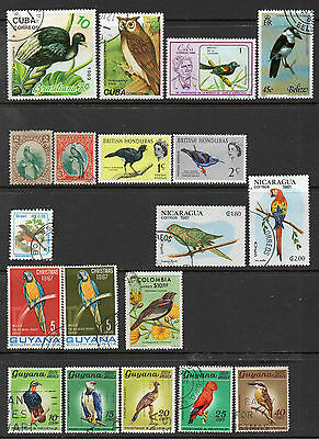 South America & Caribbean: A Very Nice  Selection of 19-Bird Issues ( Group C)