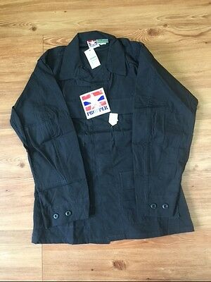 Propper Military Tactical BDU Long Sleeve Shirt Black Ripstop Size Small-Short