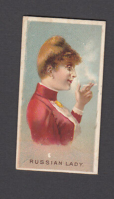 Cigarette card. N33 Allen & Ginter World's Smokers (1888) Russian Lady #37