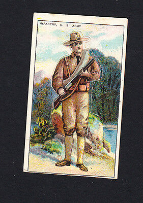 Cigarette card. T81 Recruit Military Series #8 Infantry, US Army