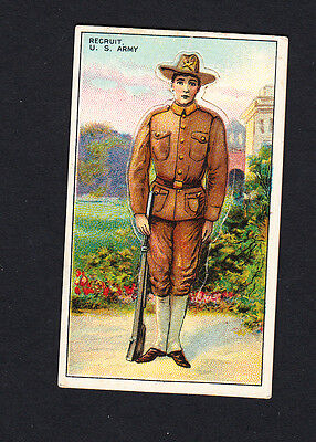 Cigarette card. T81 Recruit Military Series #10 Recruit, US Army