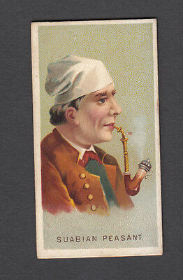 Cigarette card. N33 Allen & Ginter World's Smokers (1888) Suabian Peasant #45