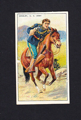Cigarette card. T81 Recruit Military Series #2 Cavalry, US Army