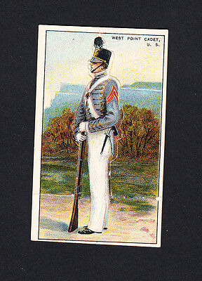 Cigarette card. T81 Recruit Military Series #12 West Point Cadet, US