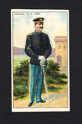 Cigarette card. T81 Recruit Military Series #4 Colonel, US Army
