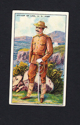 Cigarette card. T81 Recruit Military Series #9 Officer Of Line, US Army