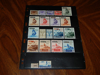 Italian Somaliland stamps  - 20 early mint hinged and used stamps - super !!