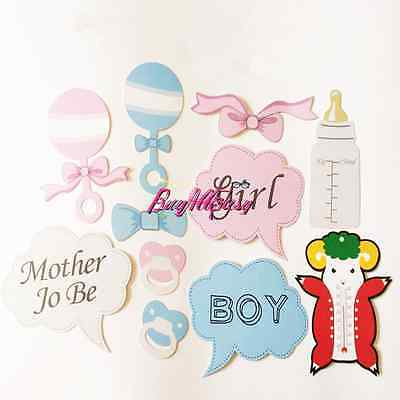 10pcs/Set Mum to Be Baby Shower Boy Girl Party Photo Booth Props Decoration