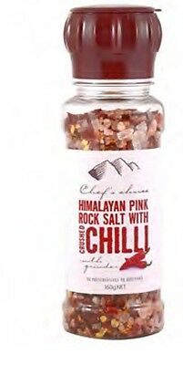 HIMALAYAN PINK ROCK SALT WITH CRUSHED CHILLI WITH GRINDER 160g