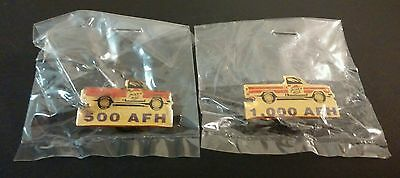 Two Pizza Hut Delivery Driver AFH Pin Backs
