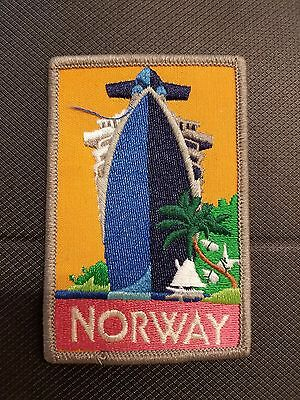 Norwegian Cruise Lines NCL SS Norway Ship Boat Embroidered Patch Badge Antique