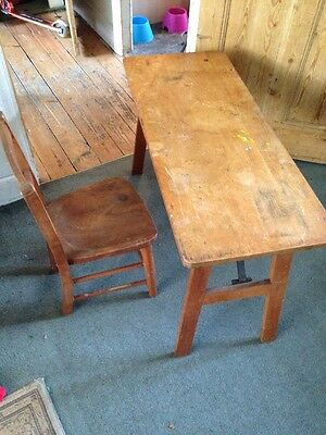 Vintage/Antique Child's Wooden Folding School  Coffee Table