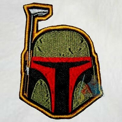 Boba Fett Helmet Embroidered Patch Star Wars Bounty Hunter Darth Vader Empire