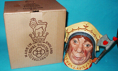 "Large Royal Doulton The Red Queen Toby Jug D6777 MINT in Box 7 1/4"" 1987"