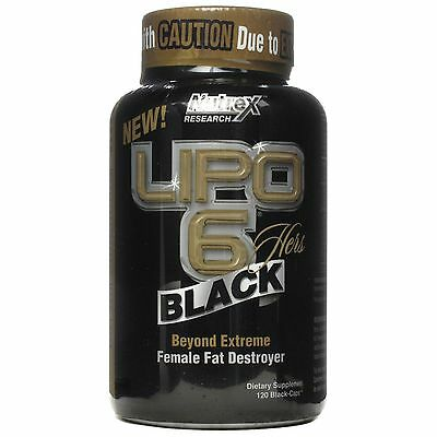 Nutrex Lipo 6 Black Hers Female Fat Destroyer Weight Loss 120 Caps fast delivery