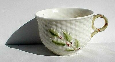 """Belleek Porcelain 11th. Mark """"Enchanted Holly"""" Cup Only"""