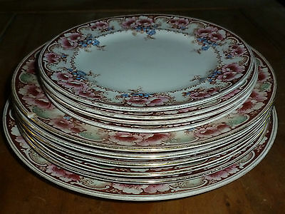 Alfred Meakin Plates - Pattern Normandy - Circa 1890's - 10 plates in total xx