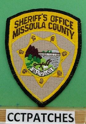 Missoula County, Montana Sheriff (Police) Shoulder Patch Mt