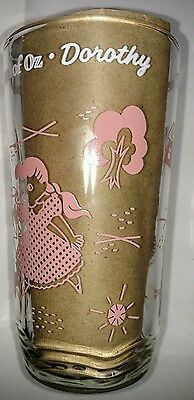 THE WIZARD of Oz. SWIFT PEANUT BUTTER GLASS. VINTAGE. '50's. DOROTHY.  RARE.