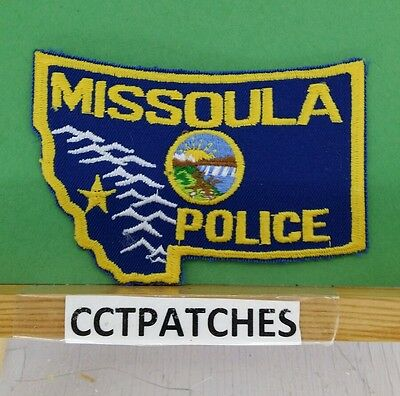 Missoula, Montana Police State Shape Shoulder Patch Mt
