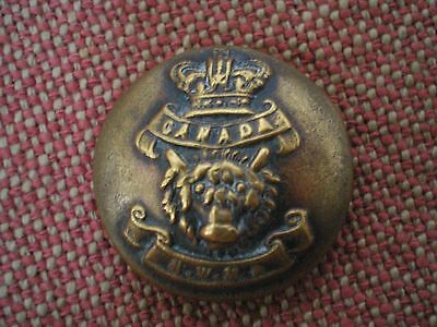 Victorian NORTH WEST MOUNTED POLICE BUTTON by Smith & Wright of Birmingham