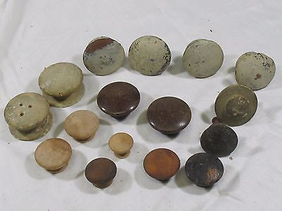 Vintage LOT OF 16  WOODEN DRAWER PULLS MIXED