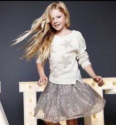 Sequinned Grey Tutu Skirt By Emma Bunton Age 8-9 New In Pack