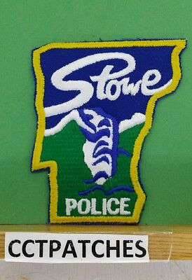 Stowe, Vermont Police State Shape Shoulder Patch Vt