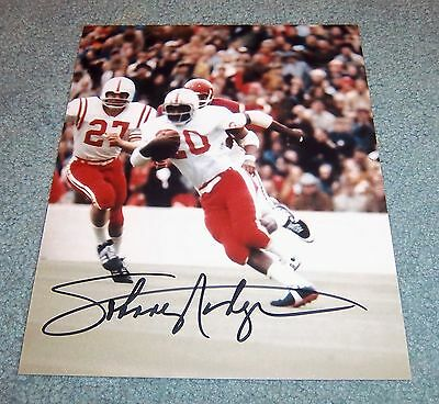 Nebraska Huskers Johnny Rodgers Signed Autographed 8x10 Photo 1972 Heisman C