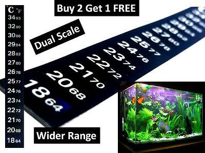 Dual Scale Aquarium Thermometer For Fish Tank Brew Window Garden Adhesive Strip