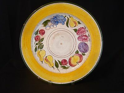 """14"""" Stangl Della-Ware FESTIVIL Charger Plate FRUIT Pattern Dish USA Handpainted"""
