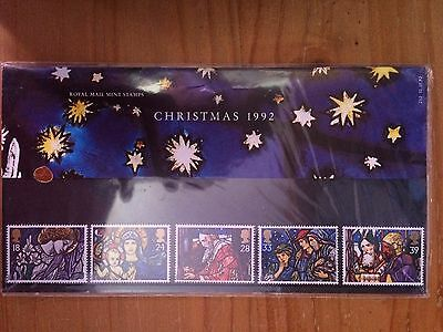 BRAND NEW UNOPENED Royal Mail Mint stamps Christmas 1992