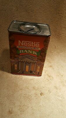Vintage nestle cocoa mix bank