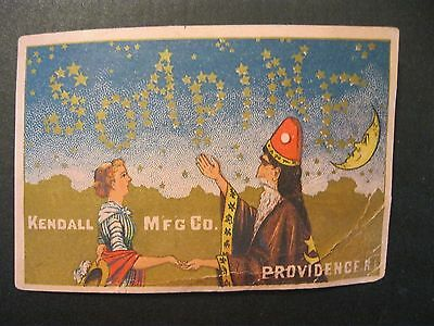 VTG Victorian Trade Card Soapine Water SoftenerWitch Sorccer MOON Halloween 16