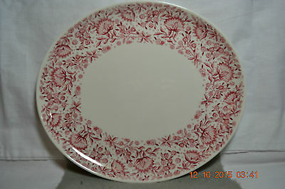 Vintage Syracuse China Mayflower Red Oval Platter 11 1/2""