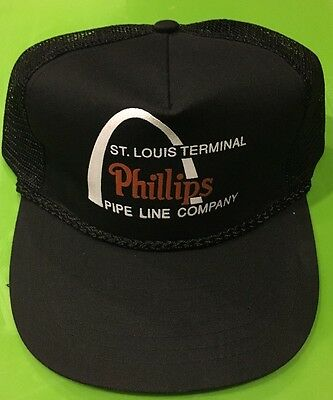 Phillips Pipeline Company Snapback Hat Rare Advertising Cap St Louis Arch