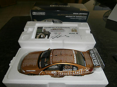 2015 Craig Lowndes 100 Wins Gold Car 1:18 Classic Carlectables