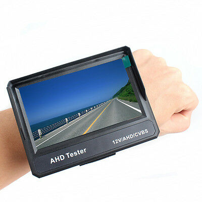 "Wristband 4.3"" 1080P HD-AHD CVBS CCTV Camera Test LCD Monitor Tester 12V-Output"