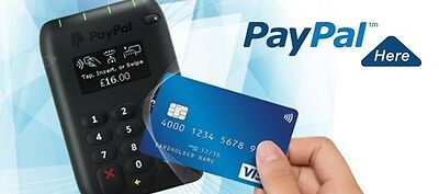 Paypal Here Contactless Card Reader Chip Pin Digital Display USA America working