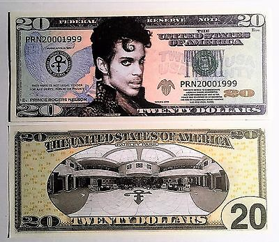 RARE: Prince Roger Nelson $20 Novelty Note, Music. Buy 5 Get one FREE