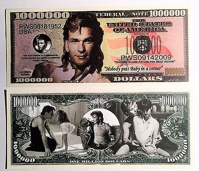 RARE: Patrick Swayze $1,000,000 Novelty Note, Movies Buy 5 Get one FREE