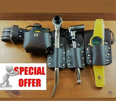 """2"""" Scaffolding Brown Leather Belt With Full Tools Set Special Offers"""
