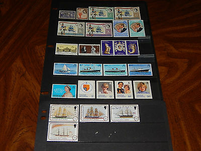Tristan da Cunha stamps - 26 mint hinged and used early stamps - great group !!