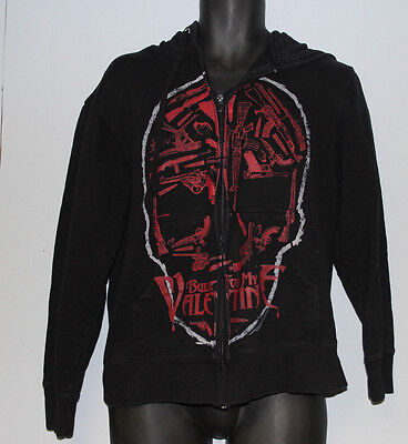 Bullet For My Valentine Hoodie - Black Skull Weapons Size M