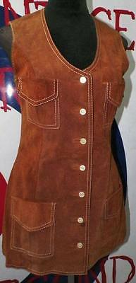 Small.- Women´s Vintage Brown Suede Leather
