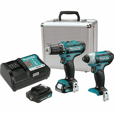 Makita CT226RX 12-Volt MAX CXT Lithium-Ion Cordless 2-PC Combo Kit w/ Metal Case