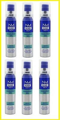 6 x Nuage Men Shaving Oil with Menthol 25ml
